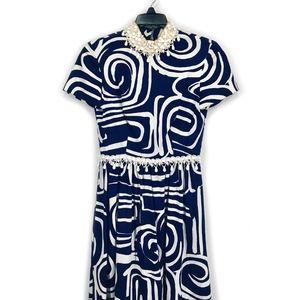 Vintage Oscar de la Renta Boutique Beaded Dress